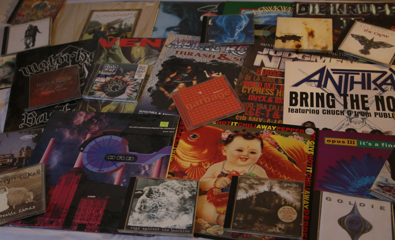 Vinyl and CDs from the 1990s